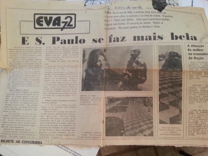 Uma das homenagens que recebeu, em 1972 (Foto: Karin Salomão)