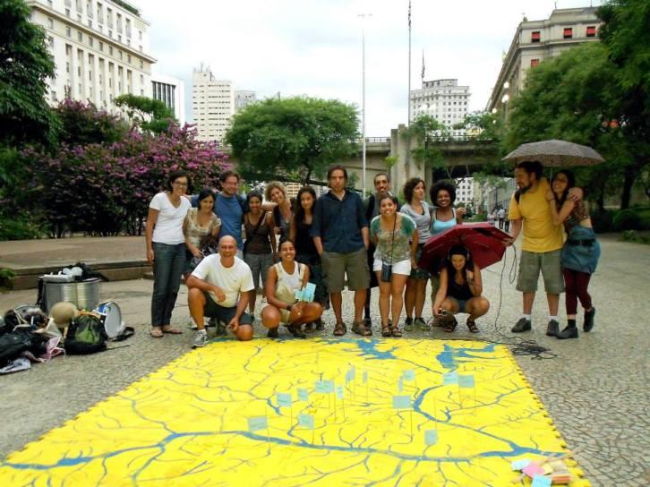 Ação do Rios e Ruas mostra todos os cursos d'água que passam pela cidade (Foto: Divulgação)